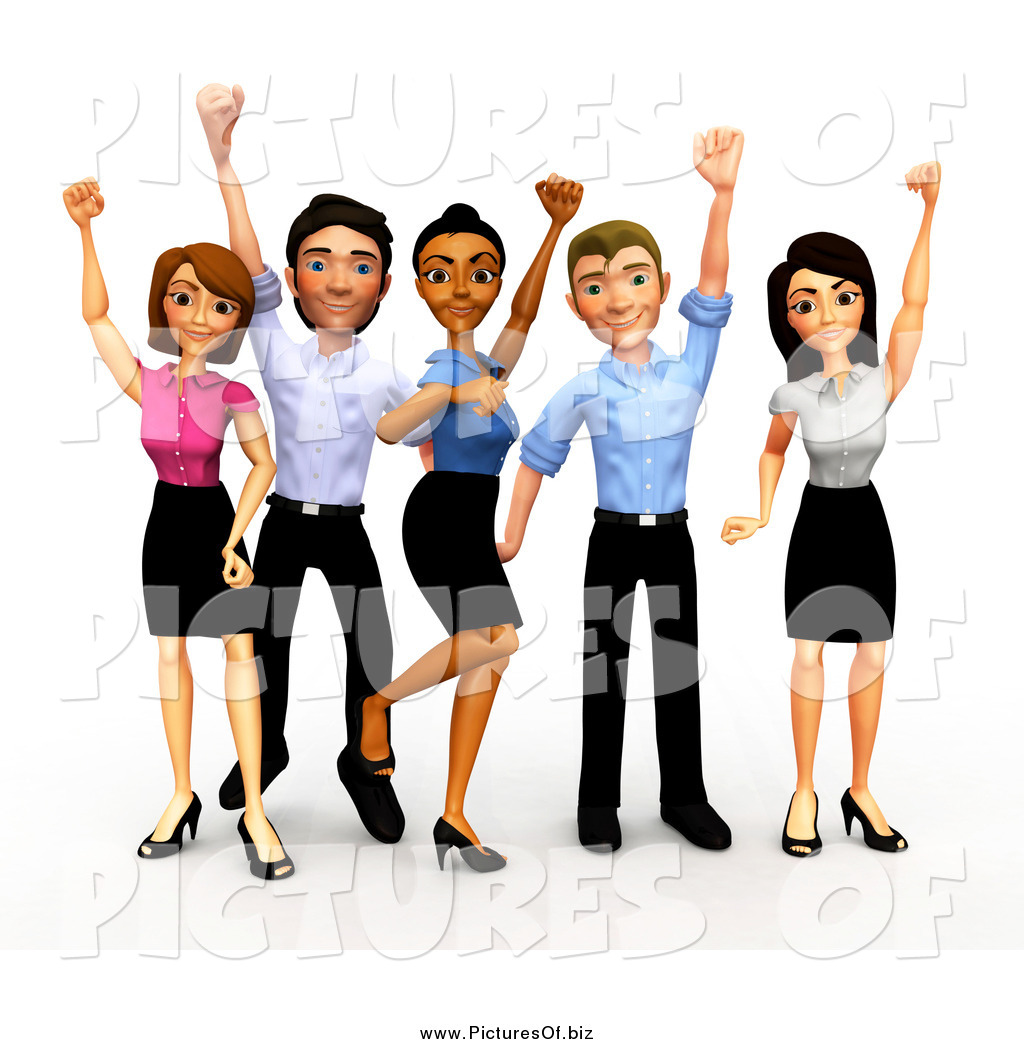 clipart of a 3d celebrating diverse business team by andresr 534 rh picturesof biz 3d business clipart free business clipart free download