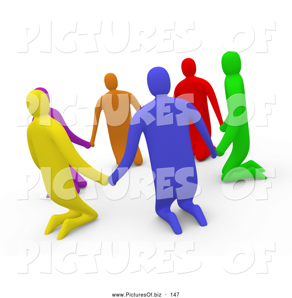 Group Holding Hands In Circle
