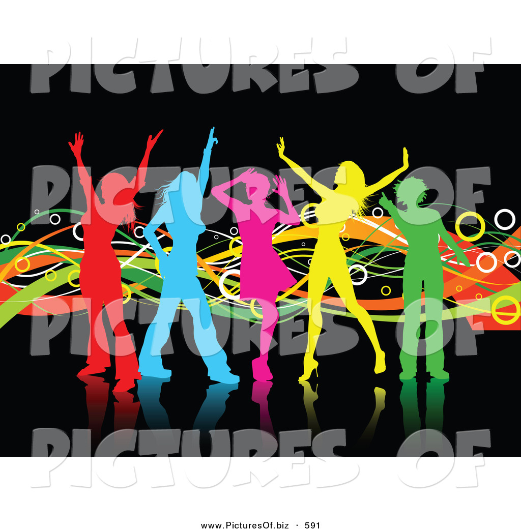 Group Girls Clipart Clipart of a Group of Colorful
