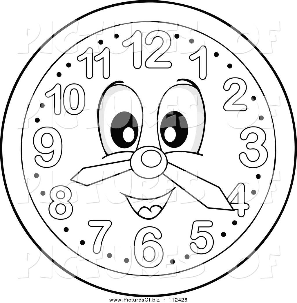 clock clipart black and white free - photo #29