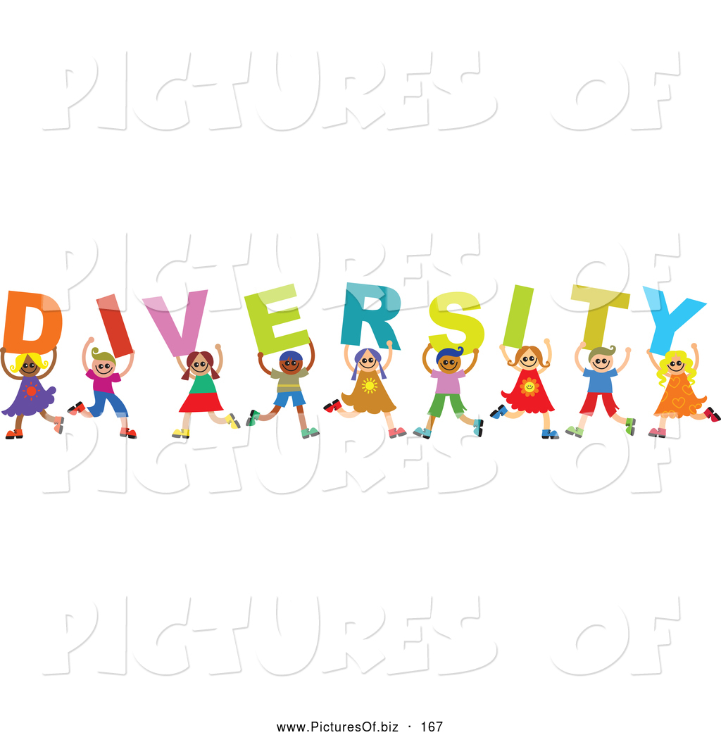 Vector Clipart of a Group of Happy and Smiling Children ...