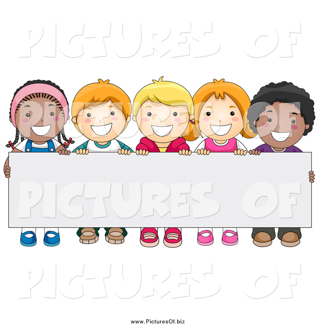 Vector Clipart of a Group of Happy Diverse School Kids ...