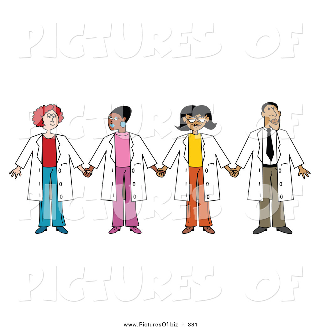 Group Of Doctors Clipart Vector Clipart of a Group of