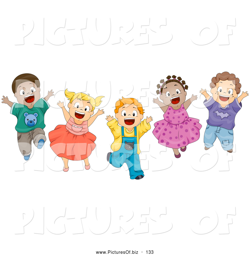 Vector Clipart of a Group of Various Energetic Diverse ...