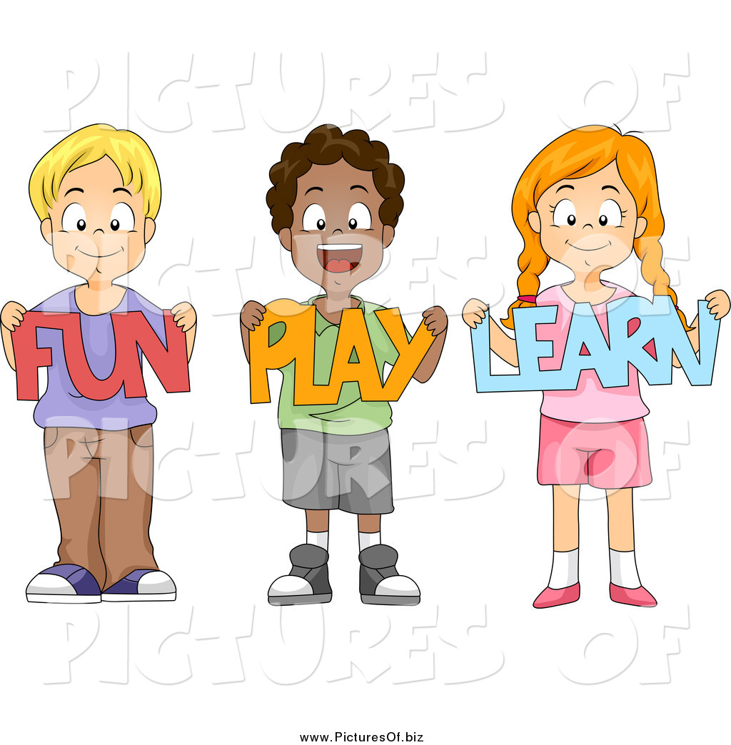 happy school children holding fun play learn paper cutouts - Images Of Children Playing At School