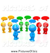 Clipart of 3d Colorful People Chatting in a Social Network Group by