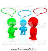 Clipart of 3d Colorful People Talking in a Social Network Group by Andresr