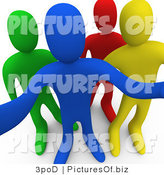 Clipart of 3d Curious Diverse People by 3poD