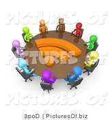 Clipart of 3d Diverse RSS Meeting People by 3poD