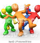 Clipart of 3d People Dancing by 3poD