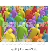Clipart of a 3d Diversity Crowd by 3poD
