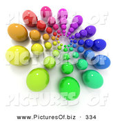Clipart of a Colorful Marble Burst on White by Frank Boston