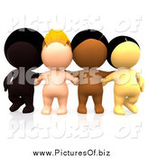 Clipart of a Group of 3d Diverse People by