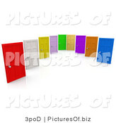 Clipart of a Group of Colorful Doors on a White Background by 3poD