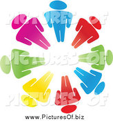 March 22nd, 2015: Vector Clipart of a Circle of Colorful People by Andrei Marincas