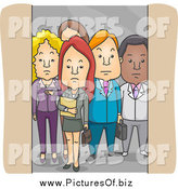 Vector Clipart of a Group of Business People in an Elevator by BNP Design Studio