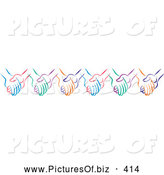 November 25th, 2013: Vector Clipart of Colorful Holding Hands by Johnny Sajem