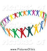 May 14th, 2014: Vector Clipart of Colorful People Unified in a Circle by Vector Tradition SM