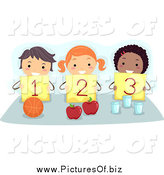 January 26th, 2014: Vector Clipart of Diverse Counting Stick Children Holding up Numbers by BNP Design Studio