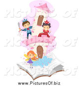 February 7th, 2014: Vector Clipart of Diverse Students Playing in a Pop up Story Book by BNP Design Studio