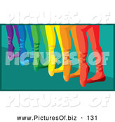 October 7th, 2013: Vector Clipart of Happy Colorful Ballerina Feet in Slippers by Rosie Piter