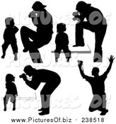 Vector Clipart of Silhouetted Photographers by Dero