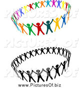 Vector Clipart of Unified Rings of People by Vector Tradition SM