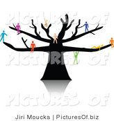 Vector of Colorful People Gathered on a Tree by Jiri Moucka