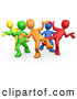 Vector Clipart of a Varied Diverse Group Dancing and Having Fun at a Party by 3poD